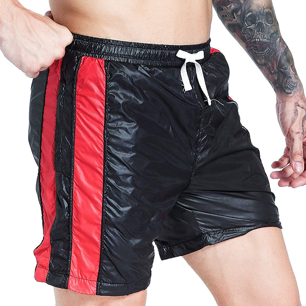 Gojendy Mens Summer Casual Thin Fast-Drying Air-Breathable Fit Sports Shorts Pants Knickers Solid Color