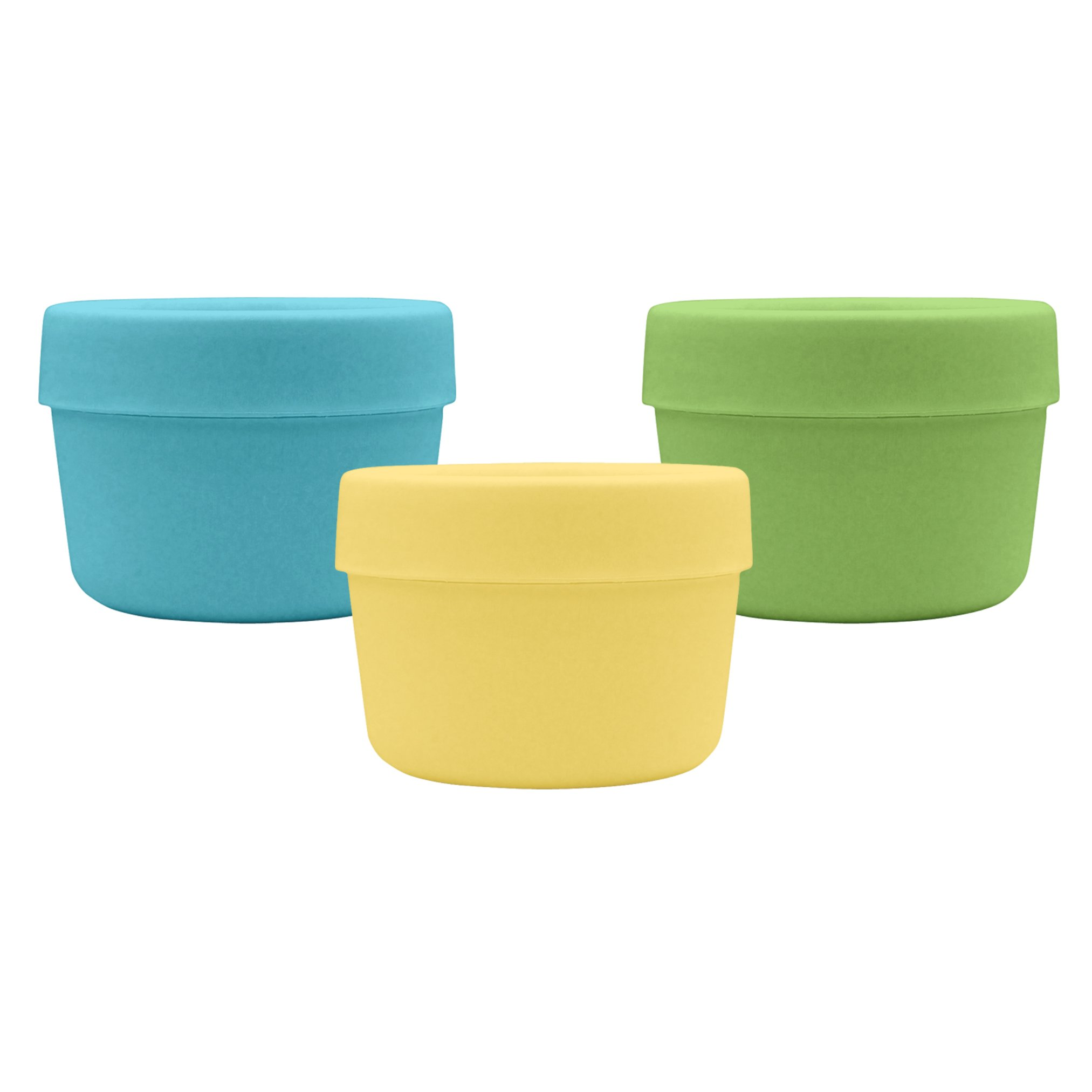 green sprouts Sprout Ware Snack Cups made from Plants-Aqua Set-6mo+