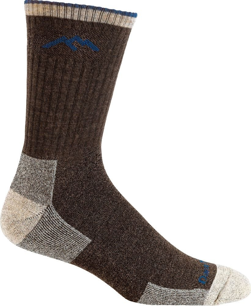 Darn Tough Hiker Micro Crew Cushion Sock - Men's Chocolate Large by Darn Tough