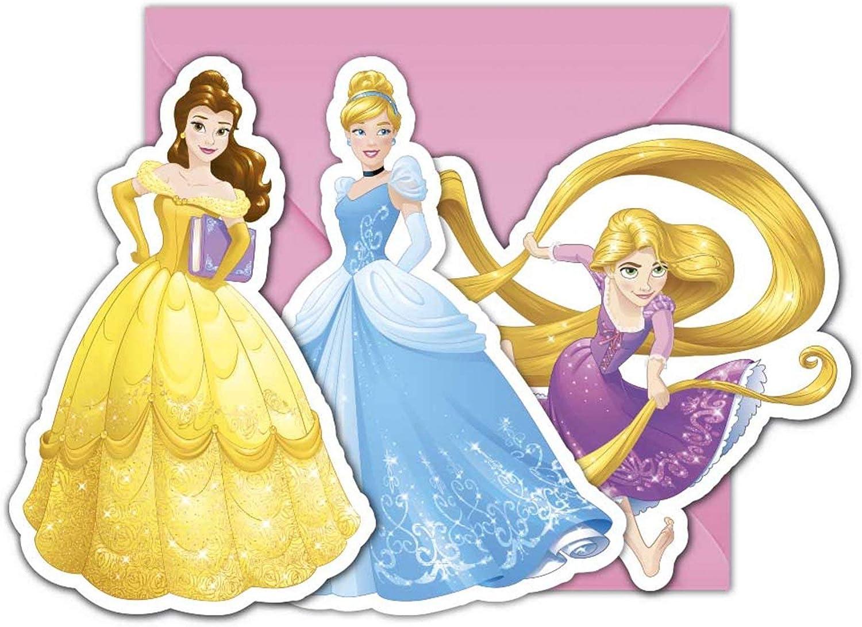Colorbaby, 87882, Pack 6 Invitaciones Disney Princesas Con Sobre ...