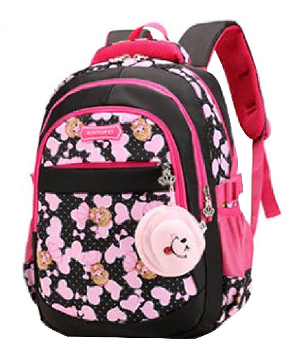 BAILIANG Kinder Schultasche 1-6 Klasse Mädchen Rucksack Wasserdichte Rucksack Leinwand
