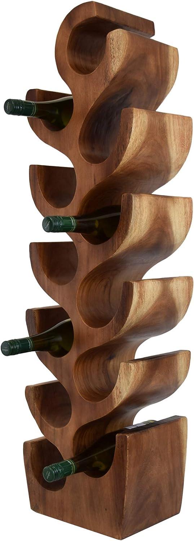 besonders stilvoll und elegant f/ür 10 Flaschen Teako Design Weinregal Weinst/änder Teramo aus Massivholz Teakholz BxTxH 27 x 19 x 80 cm