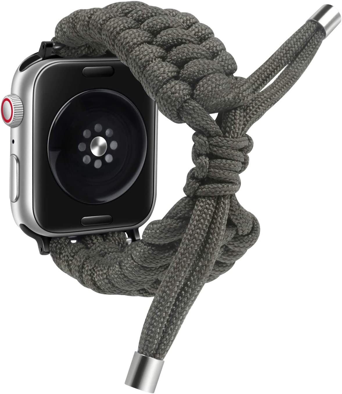 dkplnt Nyloncompatible 38mm 40mm AppleWatchBand Green Paracord Adjustable Woven Strap for iwatch Series 6/5/4/3/2/1 Replacement Wristband