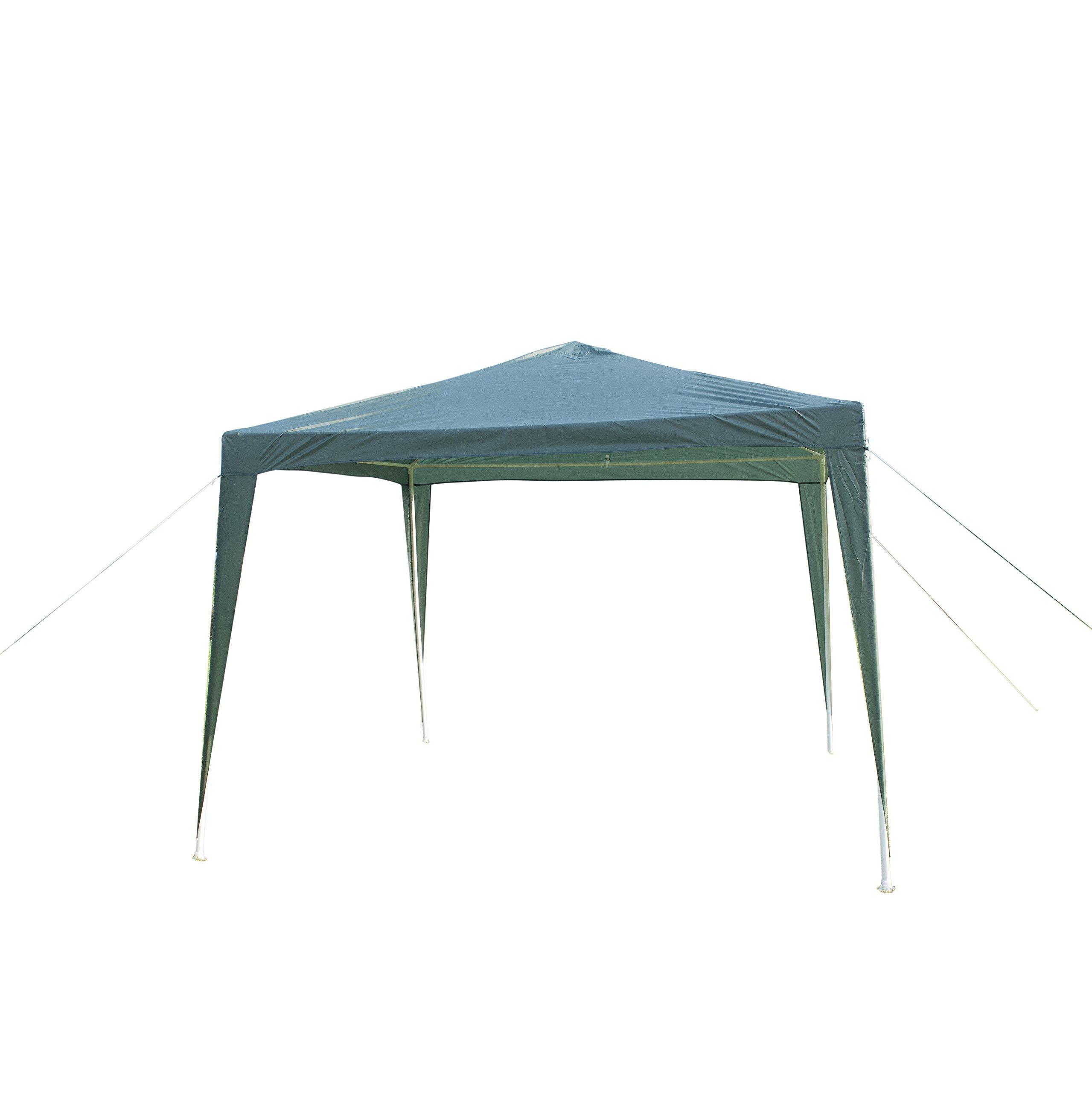 GOJOOASIS Canopy Tent Wedding Party Tent Outdoor Gazebo 10' x 10' Heavy Duty Green