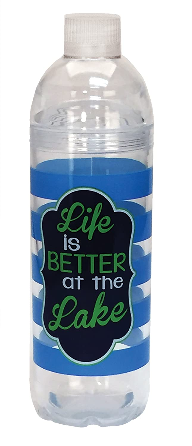 Spoontiques Life Is Better Acrylic Water Bottle Multicolor