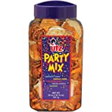 Utz Party Mix - 26 Ounce Barrel - Tasty Snack Mix Includes Corn Tortillas, Nacho Tortillas, Pretzels, BBQ Corn Chips and Cheese Curls, Easy and Quick Party Snacks, Cholesterol Free and Trans-Fat Free