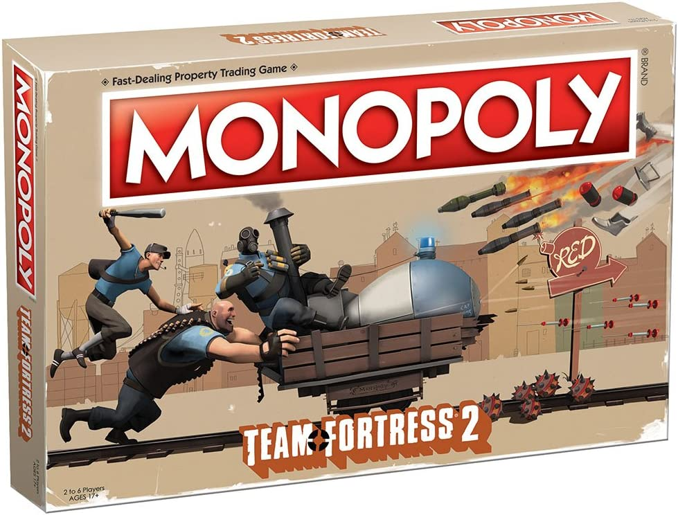 Amazon Com Usaopoly Monopoly Team Fortress 2 Board Game Based