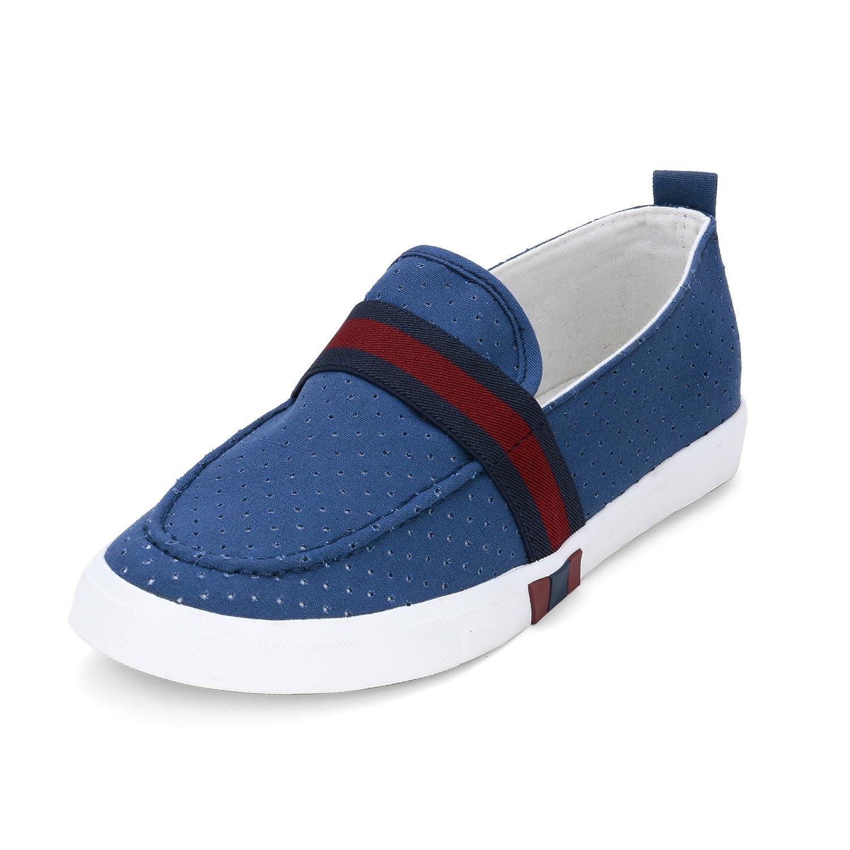 Casual Blue Canvas Shoes _FR-15-Blue