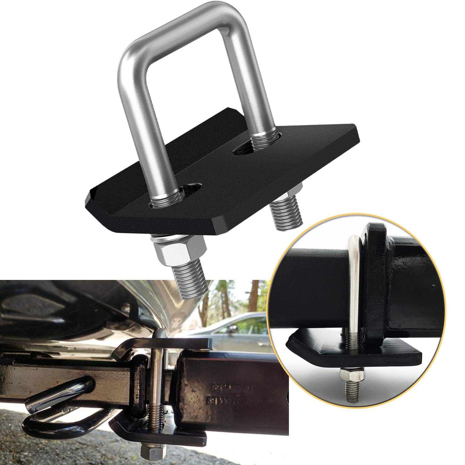 Bentolin Anti-Rattle Stabilizer Hitch Tightener for 1.25 inch and 2 inch Hitches, Corrosion Resistant Heavy-Duty Lock Down Tow Clamp Easy Installation by Bentolin
