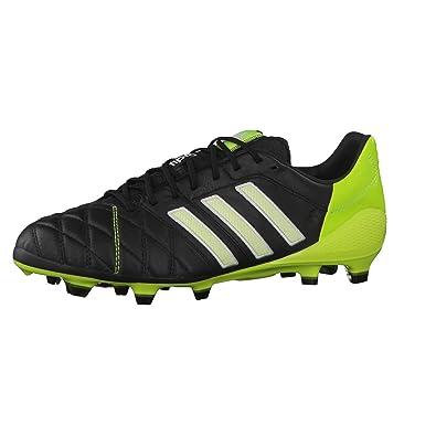 90b9d6ca751 adiPure 11 Pro Super Light TRX FG Football Boots Black White Solar Slime -  size 9  Amazon.co.uk  Shoes   Bags
