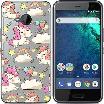 Aksuo Funda For HTC U11 Life , TPU Anti-Rasguño Anti-Golpes Cover Protectora Transparente Claro TPU Caso Bumper Slim Silicona Case - Unicornio: Amazon.es ...