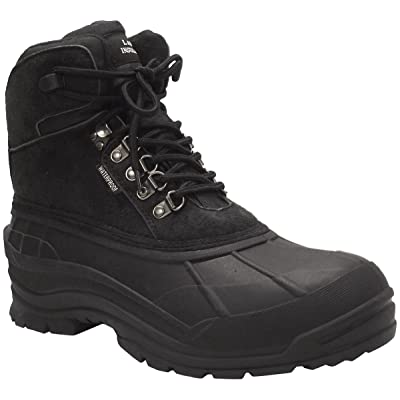 LABO Men's Winter Snow Boots Shoes Waterproof Insulated Lace UP (D, M) 103 BLACK-9 | Snow Boots
