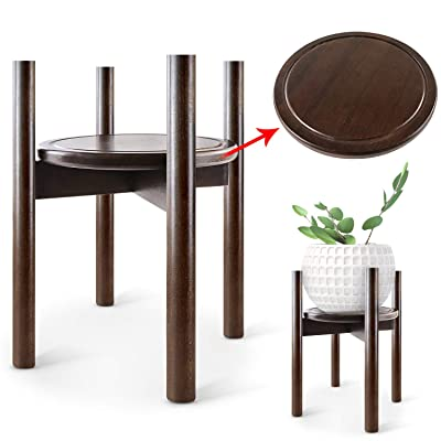 TOPNEW Plant Stand Wood Flower Pot Holder (Plant and Pot NOT Included) Adjustable 16'' Tall Plant Holder Stand Indoor and Outdoor Home Decor : Garden & Outdoor