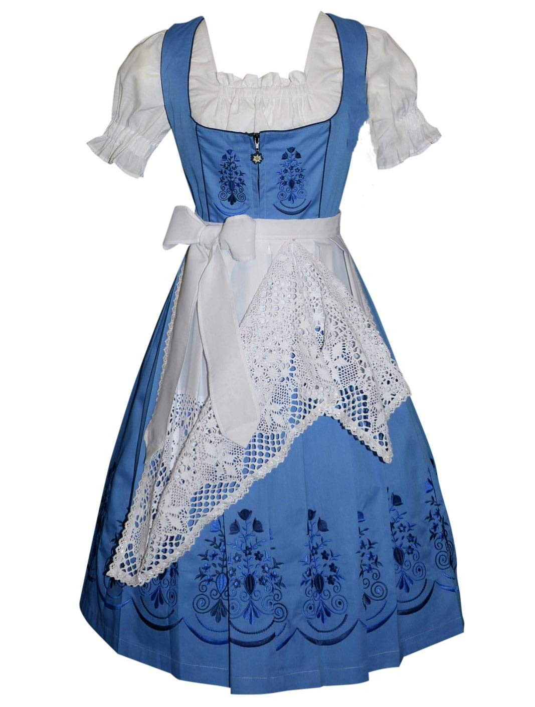 Dirndl Trachten Haus 3-Piece Long German Party Oktoberfest Waitress Dress (16)