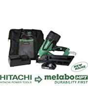 "Metabo HPT NR1890DC 18V Cordless Framing Nailer, Brushless Motor, 2"" up to 3-1/2"" Clipped & Offset Round Paper Strip Nails, 30 Degree Magazine, 3.0 Ah Lithium Ion Battery, Lifetime Tool Warranty"