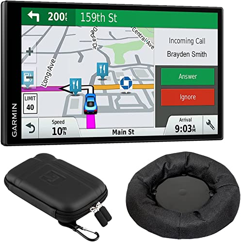 Garmin 010-01681-02 DriveSmart 61 NA LMT-S GPS w Smart Features Dash-Mount Bundle – Renewed