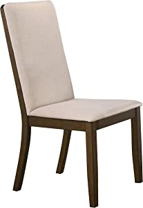 Coaster Home Furnishings Wethersfield Solid Back Latte and Medium Walnut (Set of 2) Side Chair