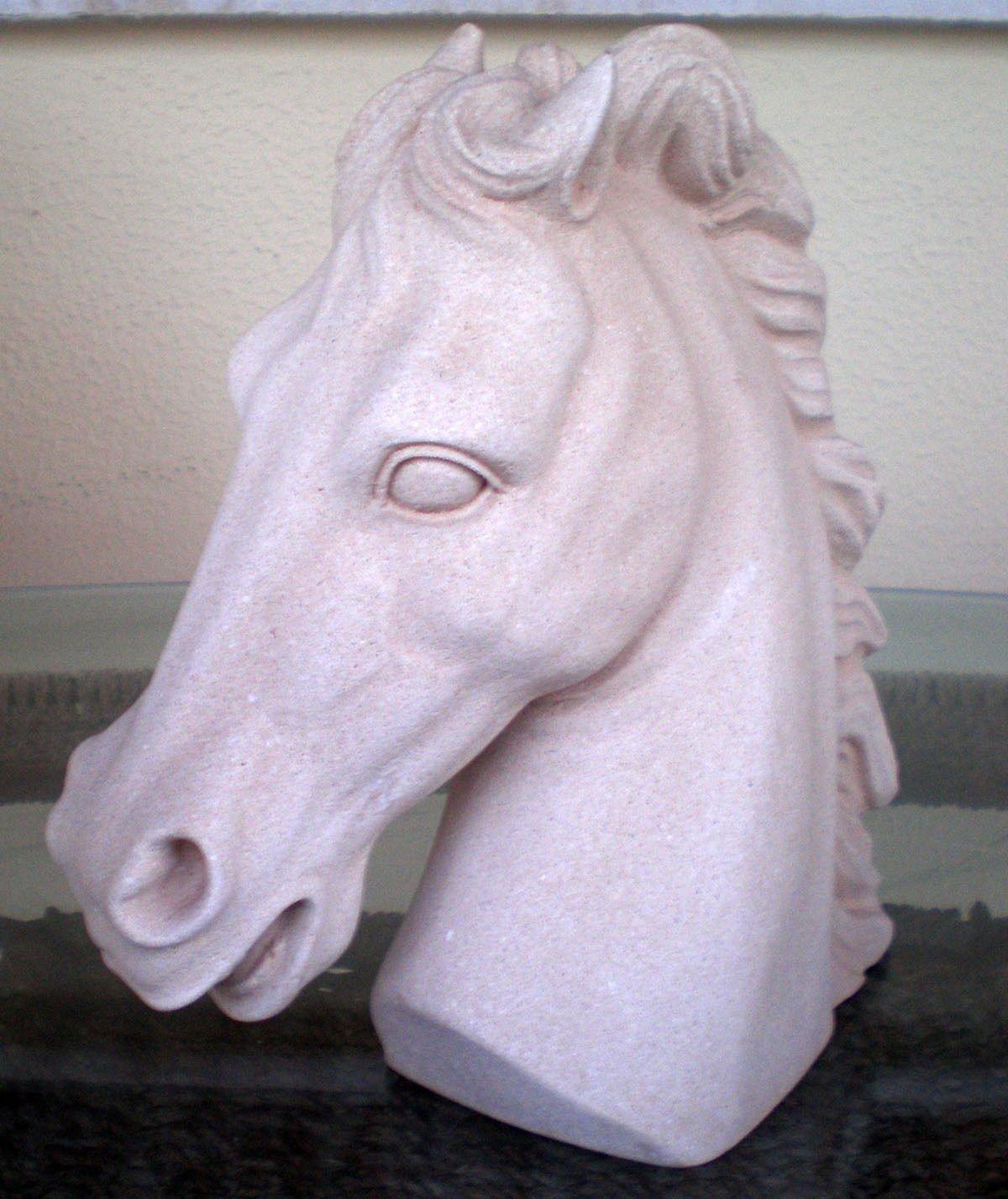 Testa di cavallo scultura–simbolo di ricchezza–prosperità–antica Grecia Estia Creations