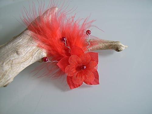 Barrette//Pince//Bijou Cheveux Mariée//Mariage Bordeaux//Ivoire fleur plume pas cher
