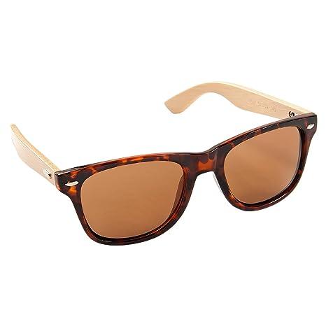 ECENCE Gafas de Sol de Madera de bambú Mujer Hombre Unisex Gafas Retro en Tendencia marrón 23020107