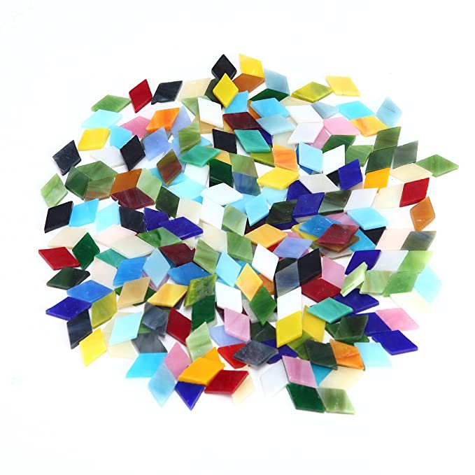 Mixed Multi Colors Mosaic Tiles 1cm X 1cm DIY Craft Supply Accessories 100g Kits