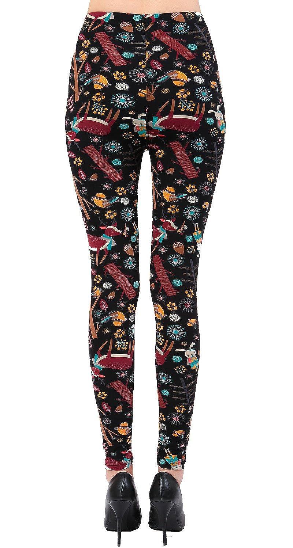 4526dbd938de14 VIV Collection Buttery Soft Printed Leggings Seasonal Designs REG/Plus at  Amazon Women's Clothing store: