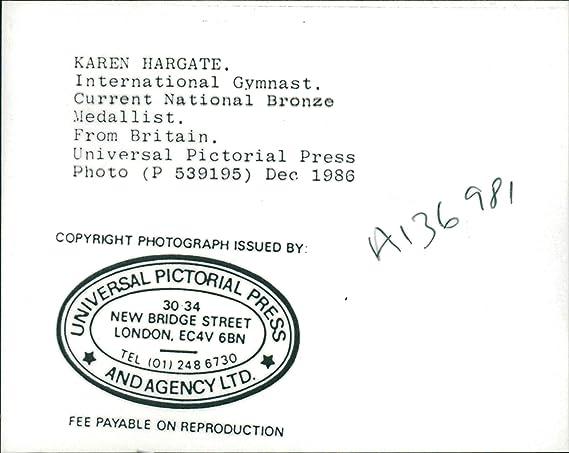 Amazon com: Vintage photo of Gymnast Karen Hargate
