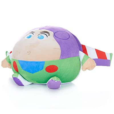Cuddle Pal Disney Baby Buzz Lightyear Round Stuffed Animal Plush Toy, 10 Inches, Multicolor: Toys & Games