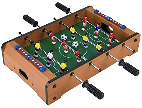 Wooden Classic Mini Table Top Foosball (Soccer) Game Set   20u0026quot; By  Homeware