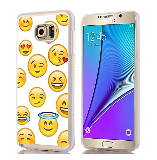 low priced 78ce6 5bc77 Note 5 Case Lovely/IWONE Designer TPU Rubber Durable Compatible Cover  Shockproof Replacement for Samsung Galaxy Note 5 + Funny Cute Design