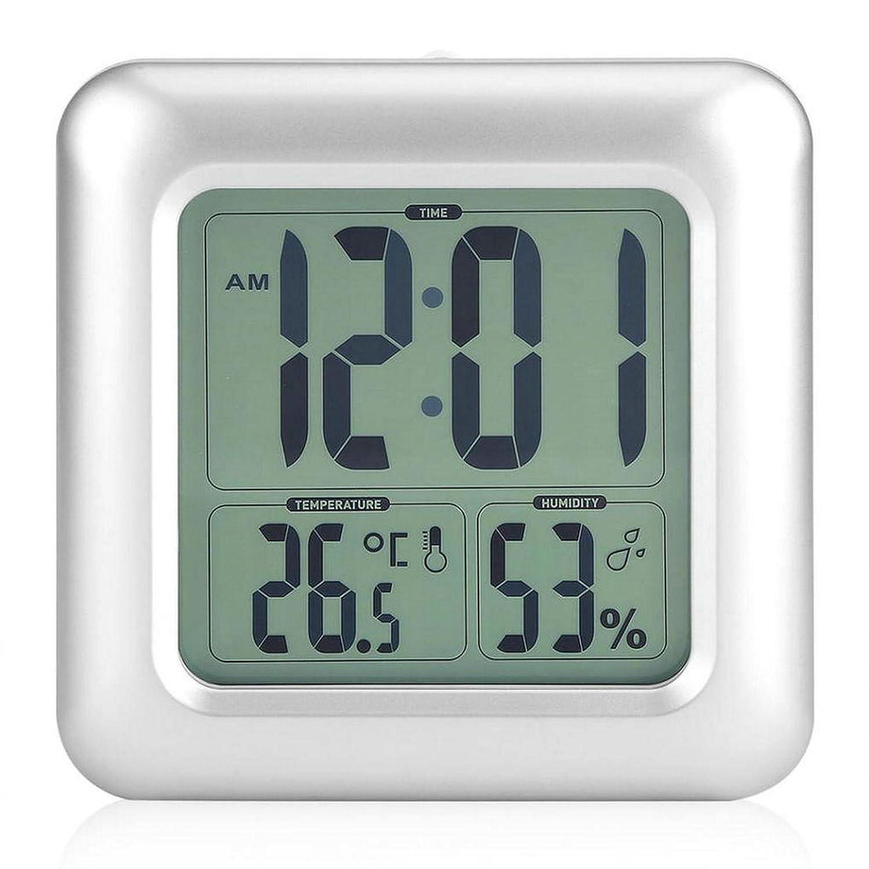 GuDoQi Reloj De Baño A Prueba De Agua LCD Digital Espejo De Pared Ventosa Temperatura De La Cocina Sensor De Humedad Reloj Reloj De Ducha: Amazon.es: Jardín