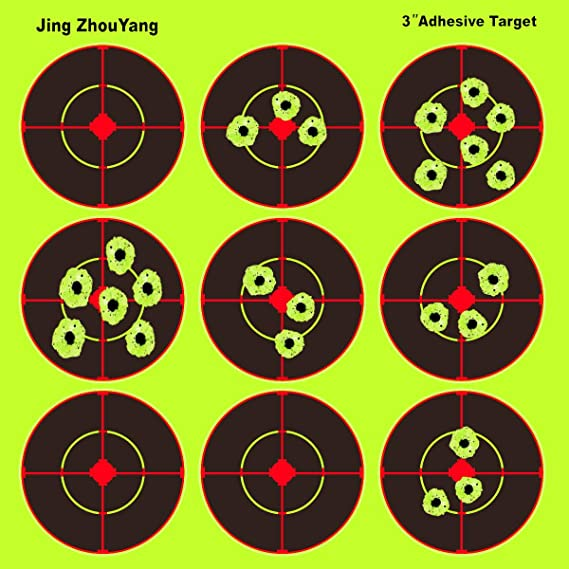 JingZhouYang Splatter Targets for Shooting - Reactive Bright Fluorescent Yellow Shot Marking - Airsoft
