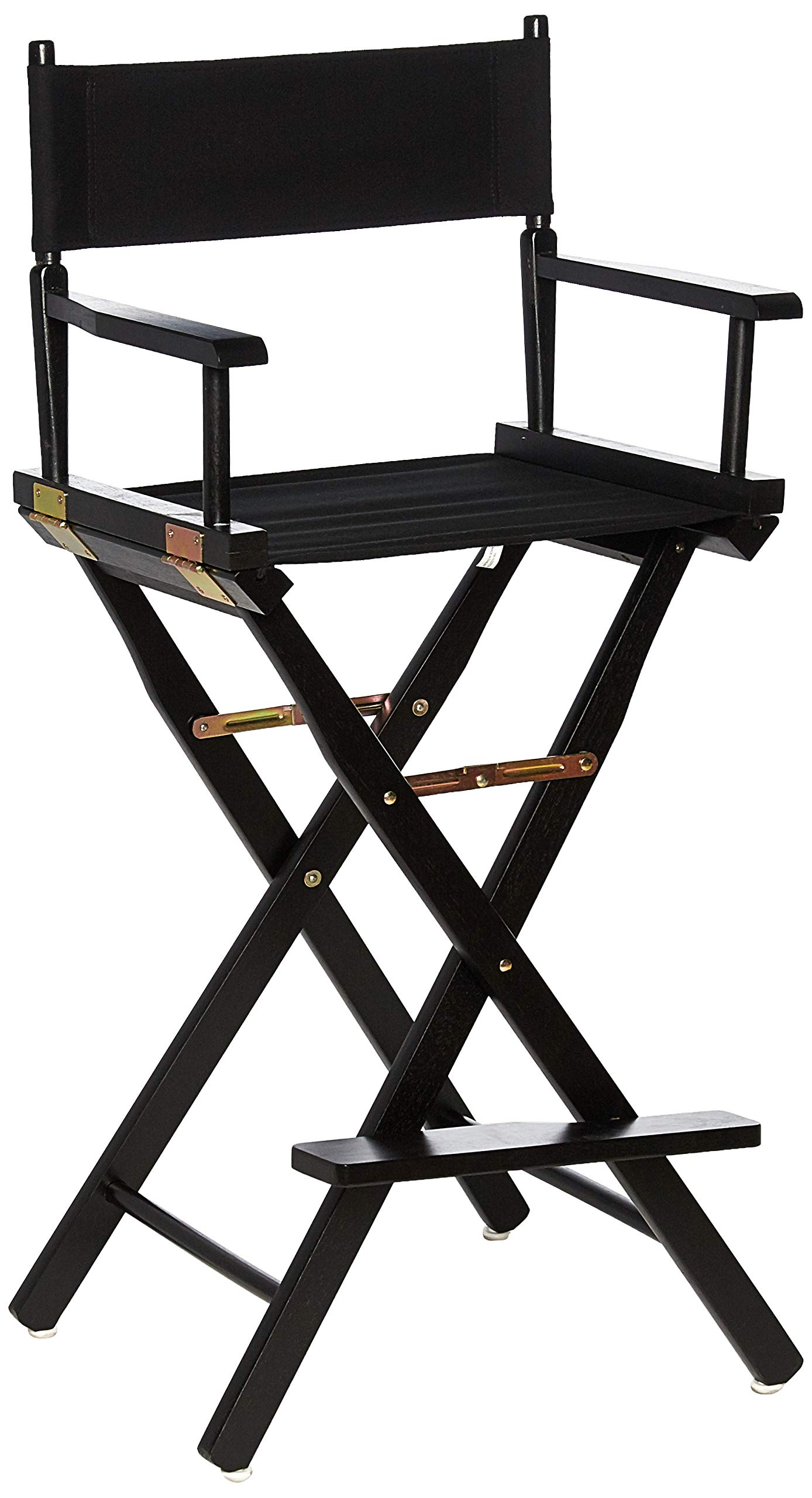 Casual Home Director's Chair ,Black Frame/Black Canvas,30'' - Bar Height by Casual Home