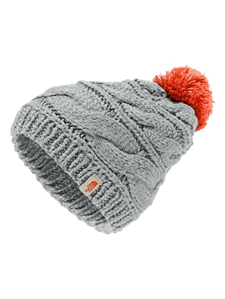 ab583f8a410 The North Face Women s Triple Cable Pom Beanie - high rise grey nasturtium