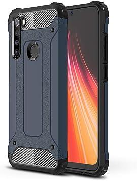 RFLY Funda para Xiaomi Redmi Note 8, con Absorción de Choque Resistente Doble Capa Rugged Armor Funda, Case para Xiaomi Redmi Note 8 Smartphone, Azul Oscuro: Amazon.es: Electrónica