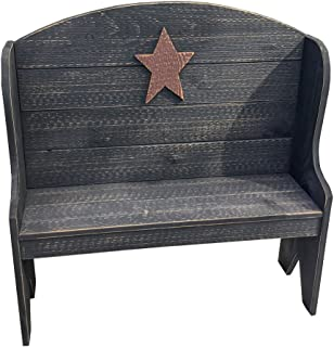 product image for Furniture Barn USA Primitive Rustic Country Style Deacon's Bench-Black