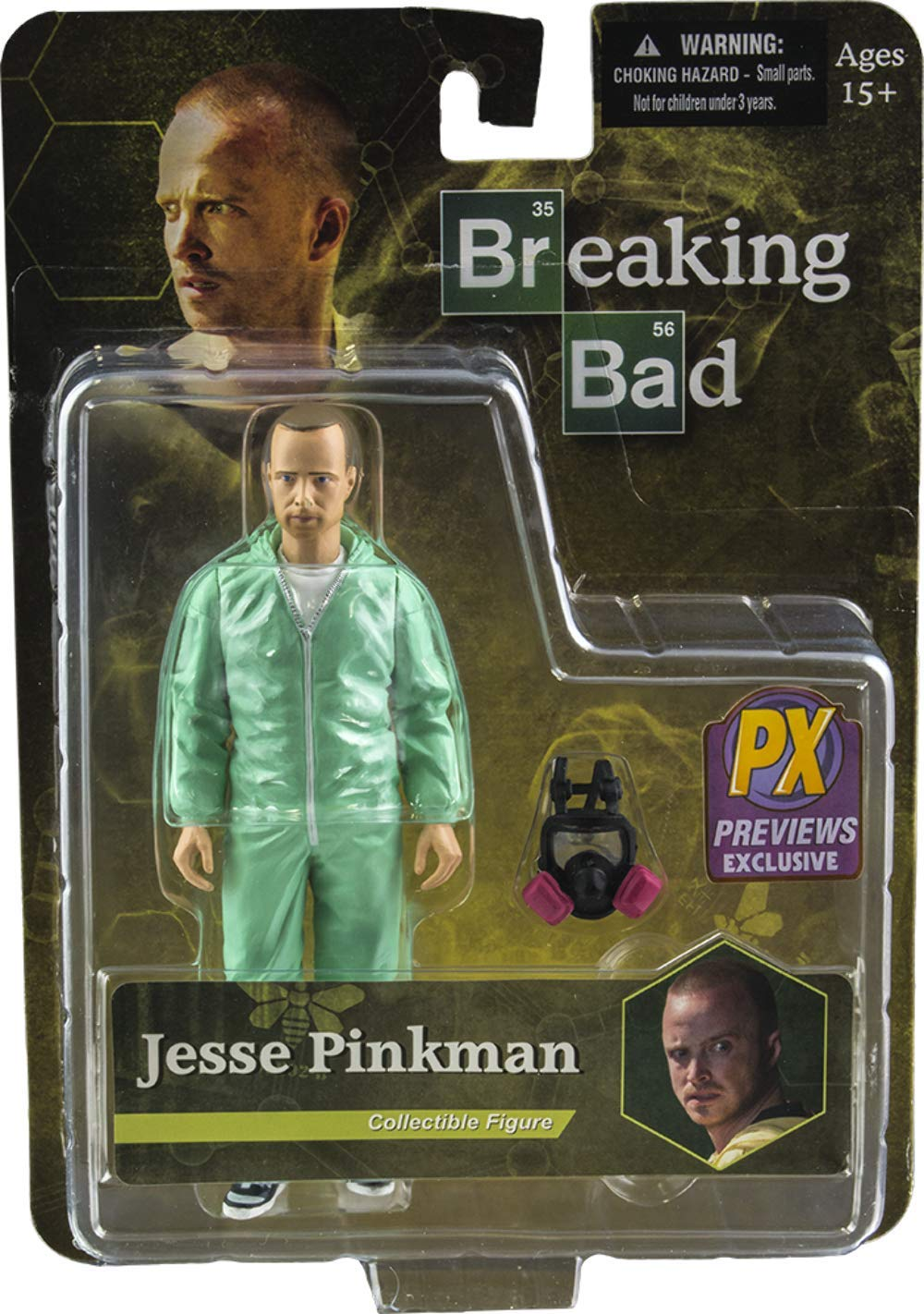 "Mezco Toys Breaking Bad: Jesse Pinkman green Hazmat 6"" Action Figure"