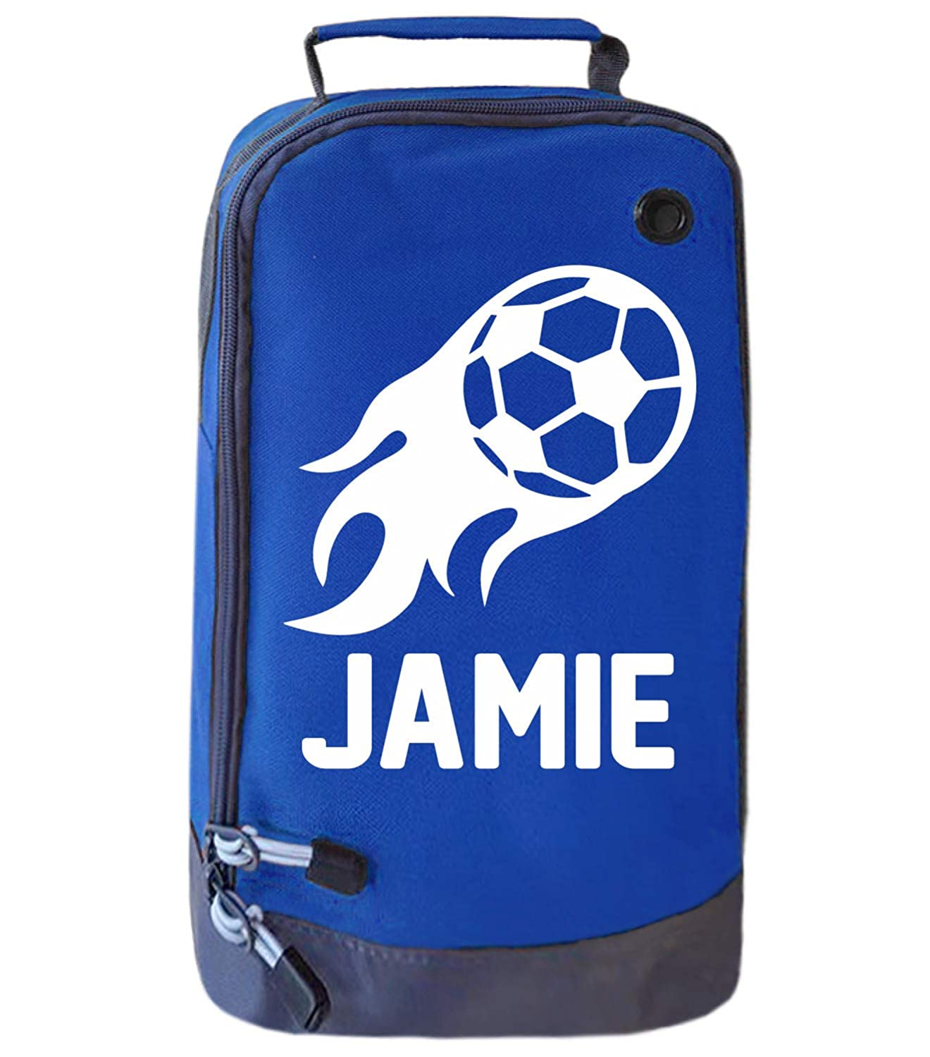 Absolutely Top Childrens Personalised Flame Football Boot Bag Boys Sports PE Gym Kit