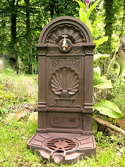 Antikas - fuentes decorativas de jardín con grifo de latón - toma de agua lavamanos -