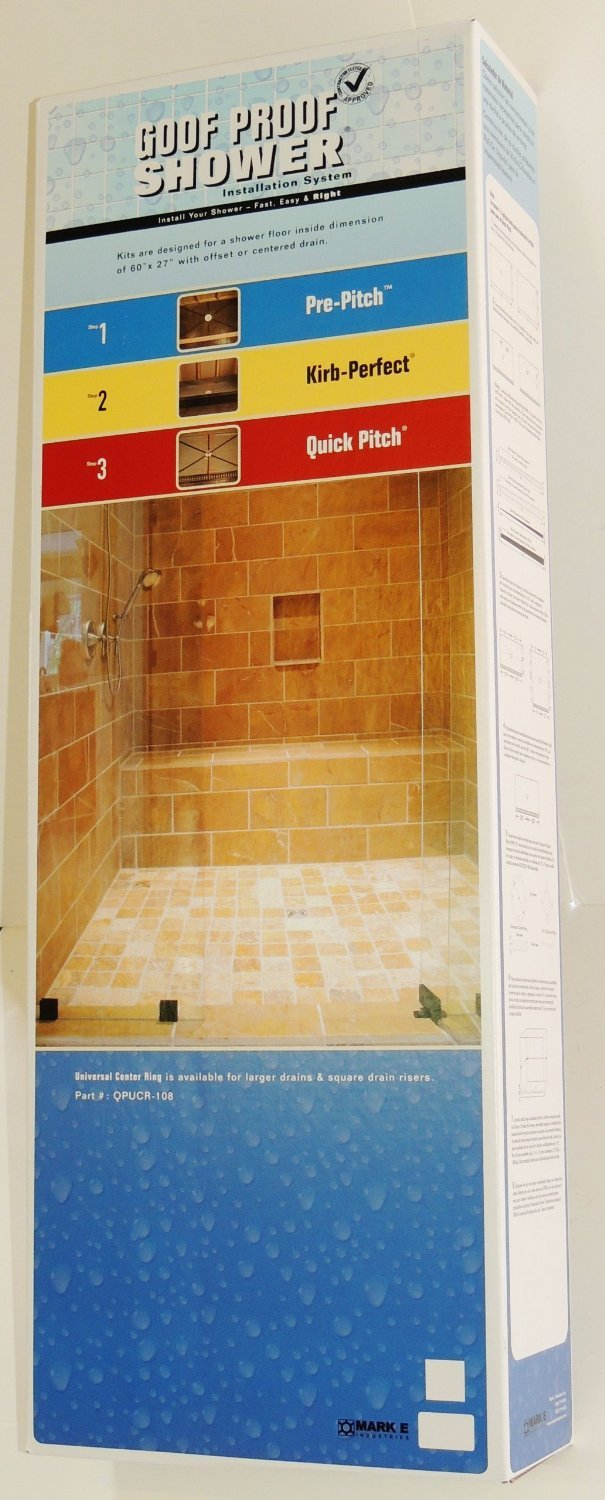 Bathtub to Shower Conversion Kit with Pan Liner & Square Drain ...