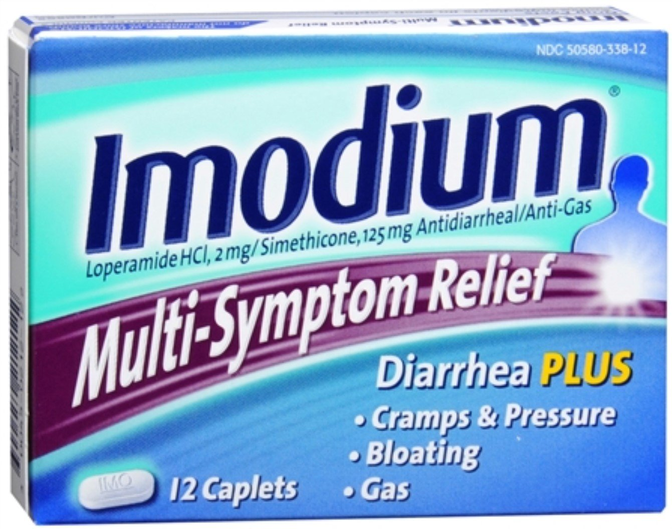 Imodium Multi-Symptom Relief Caplets 12 ea (Pack of 12) by J&J