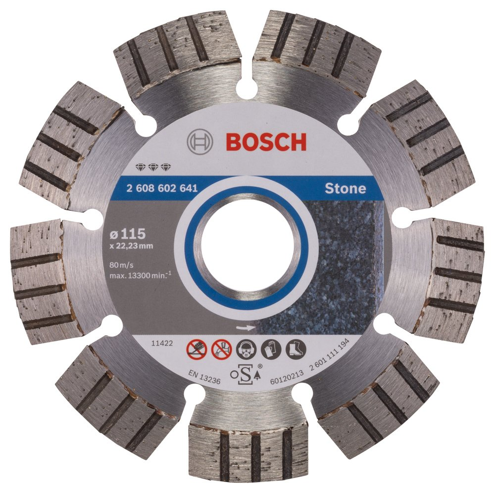 Bosch 2608602642 Disque /à tron/çonner diamant/é best for stone 125 x 22,23 x 2,2 x 12 mm