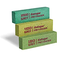 Baroque Fret Erasers for Guitar, Fret Polishing Cleaner, Frets Polish Tools Kit, Clean Fret Wire/String/Metal, Set of 3…