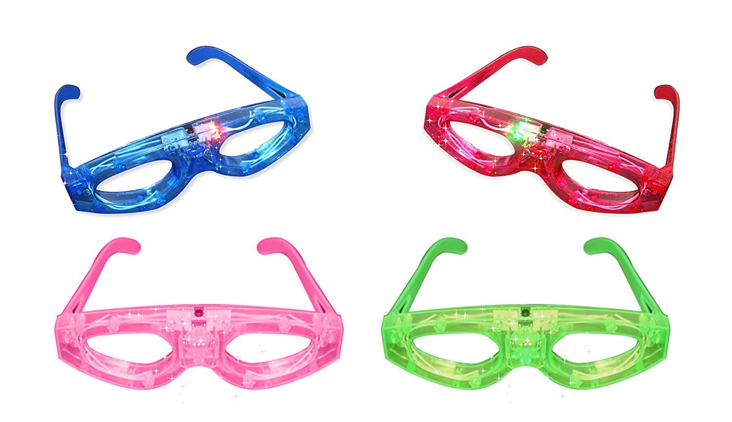 12ct LED Light Up Sunglasses - Flashing Multi Colored Led Glasses BEST PARTY FAVORS Light Up Flashing Glasses For Children (Mask)