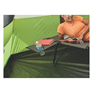 Coleman Pack-Away Cot with Side Table best camping cot
