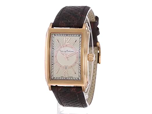Amazon.com: Tommy Bahama Swiss Mens TB1232 Bali Rose Gold-Tone Stainless Steel Tank Watch with Brown Leather Band: Watches