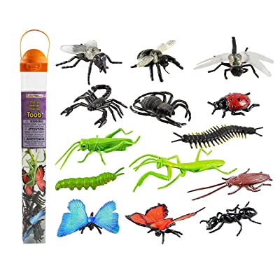 Safari Ltd Insects TOOB – Comes With 14 Toy Figurines – Including Caterpillar, Dragonfly, Centipede, Grasshopper, Ladybug, Spider, Butterflies, Bee, Scorpion, Praying Mantis, And More – Ages 3 And Up: Toys & Games