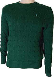 5fd1ef59c0 Polo Ralph Lauren Mens Cable Knit 1 4 Zip Pullover Sweater at Amazon ...