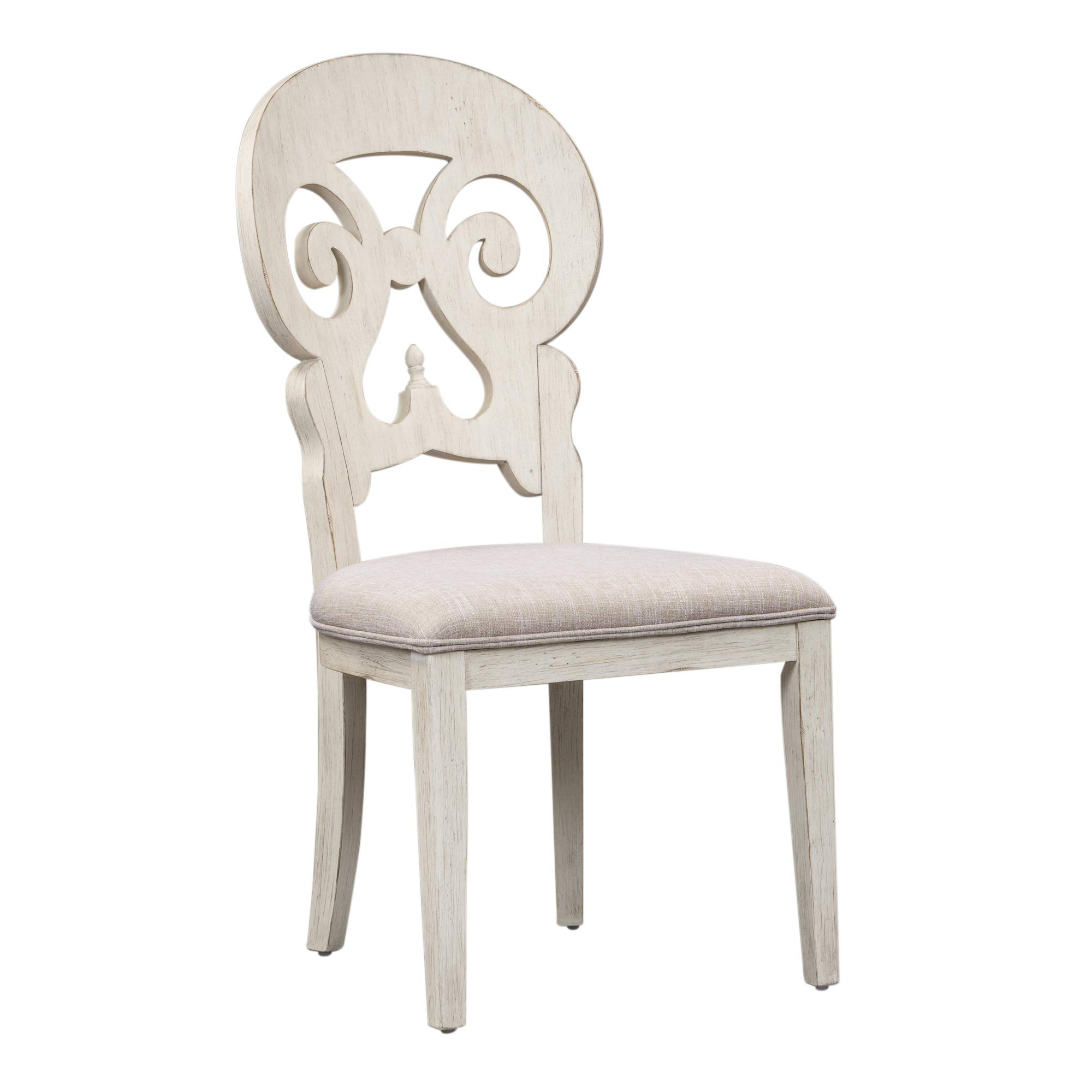 Liberty Furniture Industries Farmhouse Reimagined Splat Back Side Chair, W20 x D25 x H41, White by Liberty Furniture INDUSTRIES