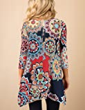 XUERRY Women Plus Size 3/4 Sleeve Tunic Tops Loose